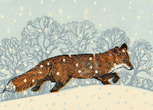 'Fox In Winter' By Vanessa Lubach