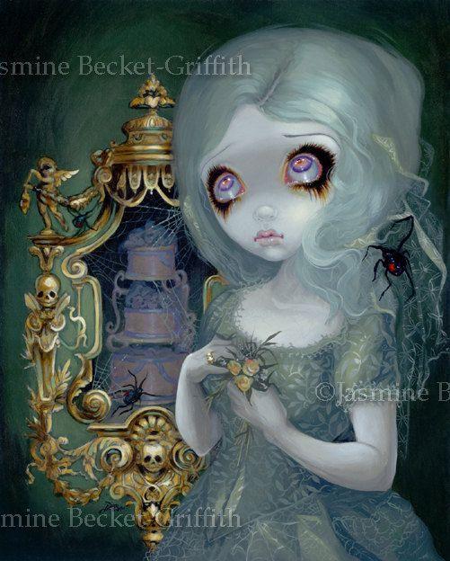 Miss Havisham wedding dress cake fairy art print by Jasmine Becket-Griffith12x16 BIG