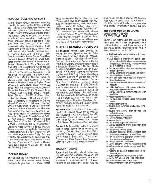 1968 Ford Falcon Falcon Futura Dealer Sales Brochure