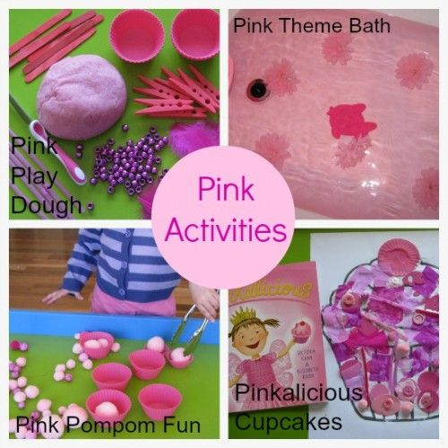 Lots of activity ideas for learning about the color/colour PINK.  {learning4kids.net}