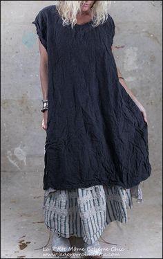Orlena linen dress Dress 399 - Midnight.01.jpg