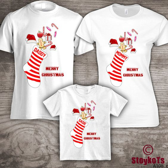 Christmas shirts for family personalized t-shirts Mom by StoykoTs