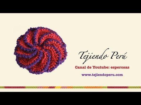 Flor espiral tejida a crochet