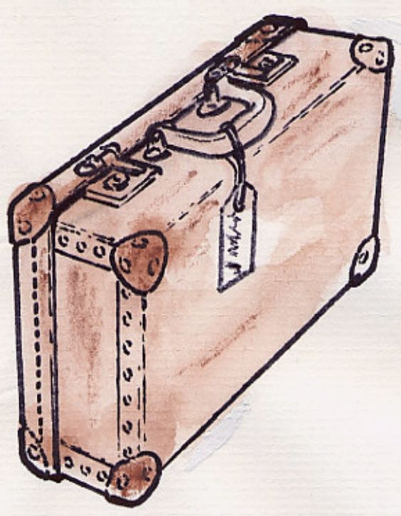 .drawing of a suitcase.: