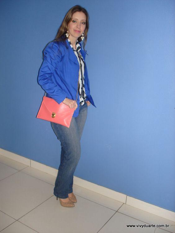 Vivy Duarte: Look do Dia: Camisa Listrada