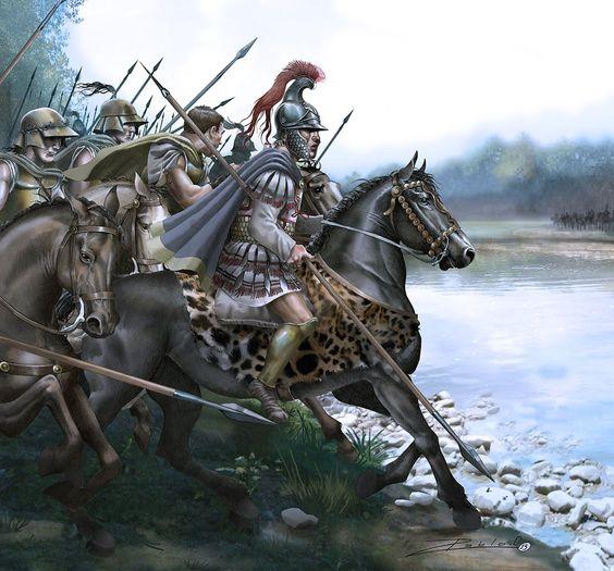 """""""Alejandro cruza el Gránico (334 a.C.)"""", Pablo Ouiteral"""