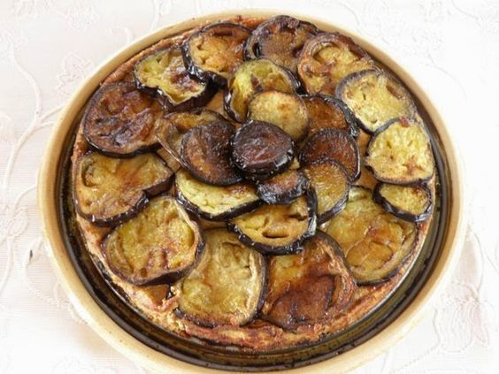 Tourte d'aubergines - Auberginenkuchen