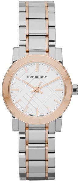 Burberry Swiss Two Tone Stainless Steel Bracelet Watch in Silver (steel)
