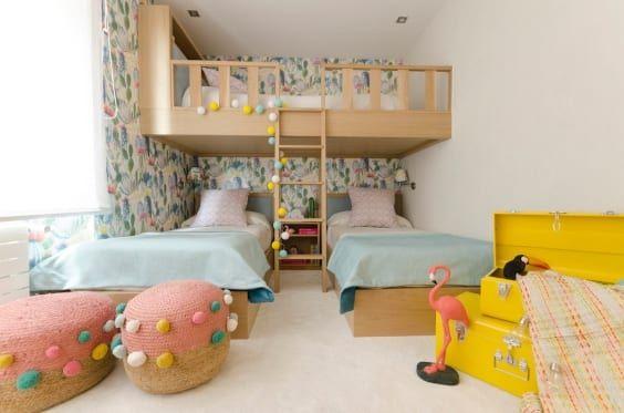 35 Habitaciones para tres niños | Habitación para tres niños, Ideas de cama, Decorar habitacion niños