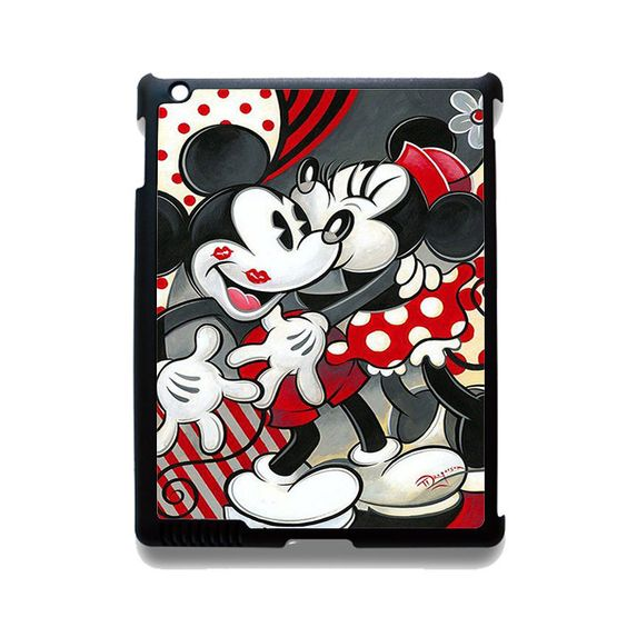 Hugs And Kisses Disney Mickey Minnie Mouse TATUM-5381 Apple Phonecase Cover For Ipad 2/3/4, Ipad Mini 2/3/4, Ipad Air, Ipad Air 2