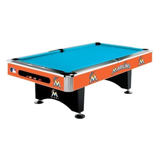 Miami Marlins 8 Foot Pool Table 8ft Pool Table Pool Table Tailgate Gear