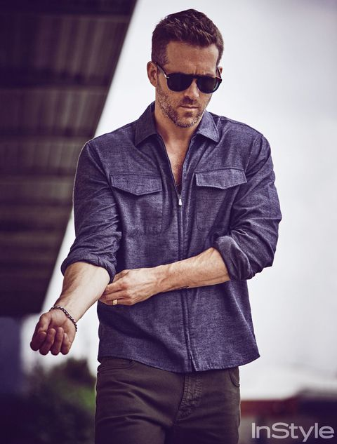 Ryan Reynolds Looks Absurdly Handsome in InStyle's October Issue from InStyle.com