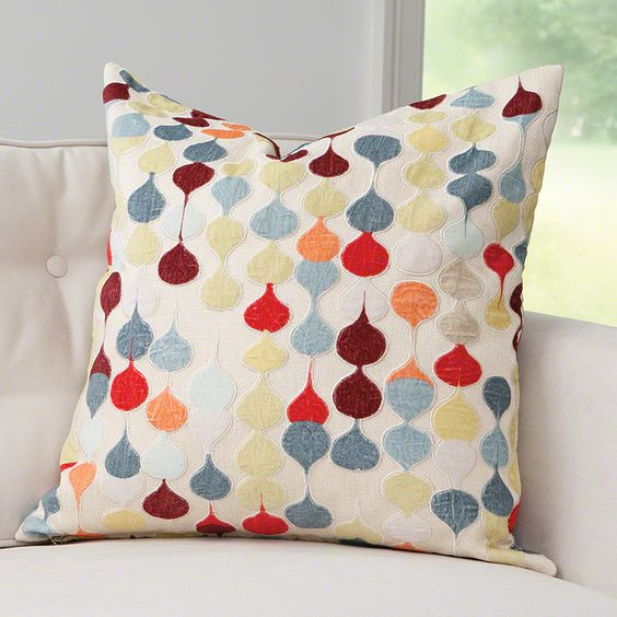 "Julia Buckingham for Global Views! Raindrop Pillow I love to see my signature ""raindrop"" pattern in a smaller dose of color! When sophisticated yet playful color is the right choice, this print makes for one perfect pillow. Elegant, easy and chic."