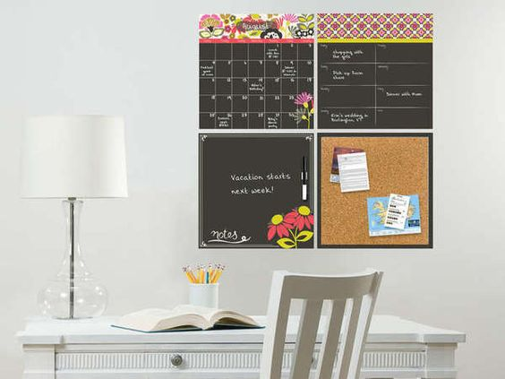 Dry-Erase Organizer Wall Decal Kit