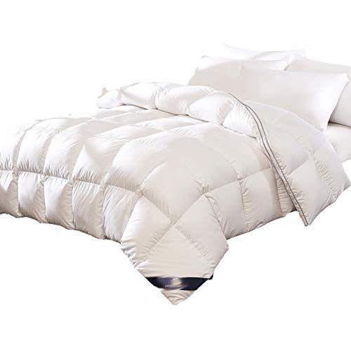 Gjflife White Goose Down Comforter Quilt Quilted Breathable Single Double Comforter Duvet Hypoallergenic Duvet Insert Blanket A 150x200 Blanket Comforters Bed