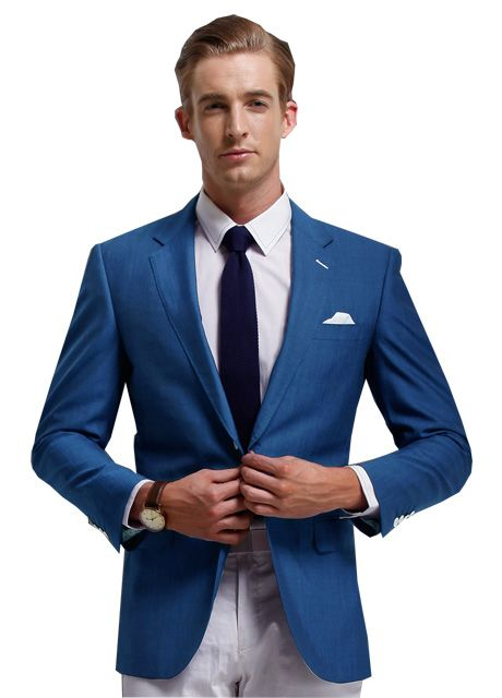 Solid Royal Blue Casual Blazer For Men | Style | Pinterest ...