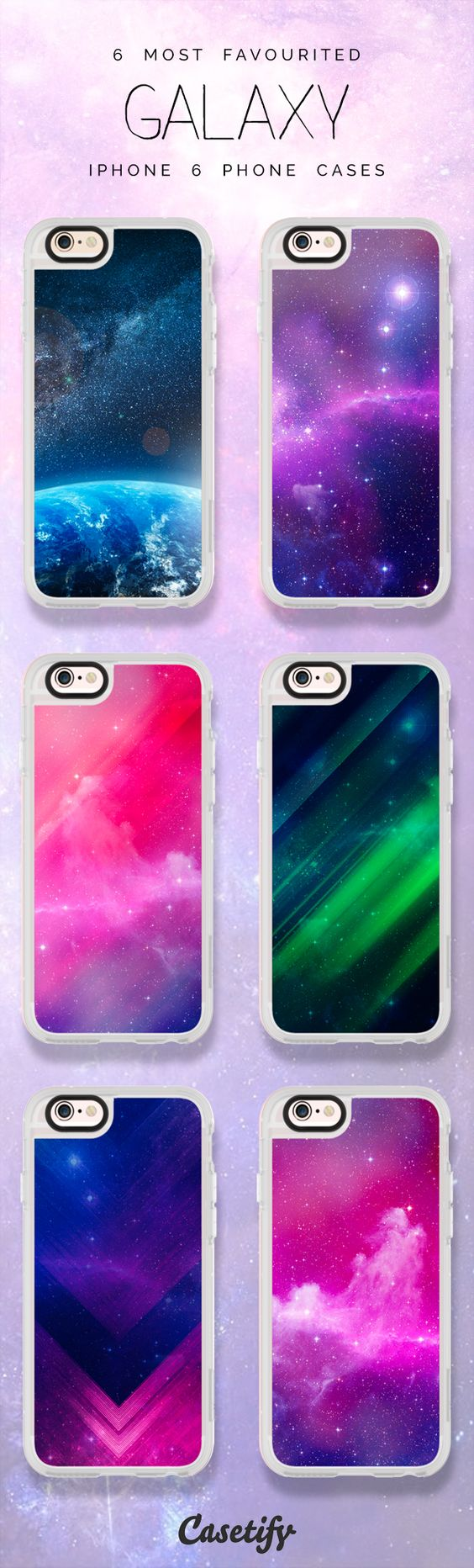 Top 6 Galaxy iPhone 6 protective phone case designs | Click through to see more iPhone phone case idea >>> https://www.casetify.com/artworks/IZ3X9JDk9O #space | @casetify