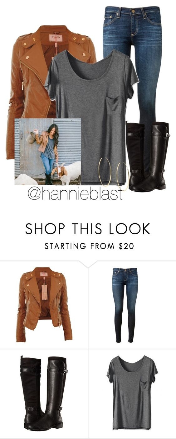 """Style Steal: Joanna Gaines #ReadD"" by hannieblast ❤ liked on Polyvore featuring AG Adriano Goldschmied, Aerosoles, Michael Kors and country"