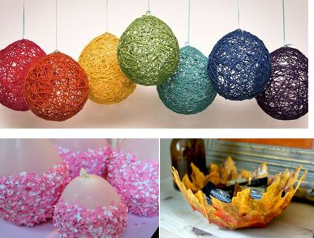 A easy best out of waste balloon craft best out of waste for Decoration from waste things