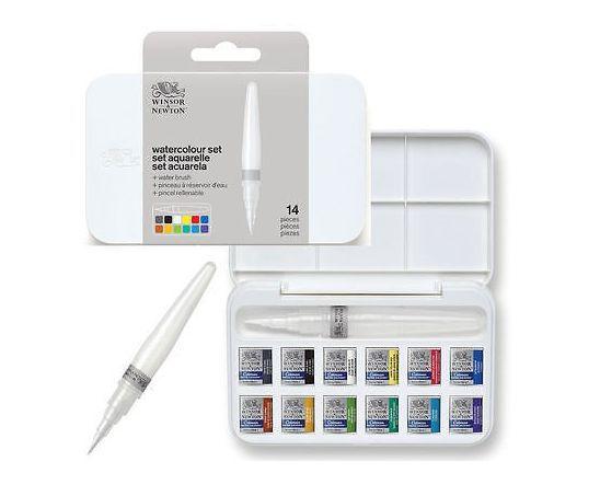 Aquarelle Fine Cotman Boite Plastique Sketchers 12 Demi Godets