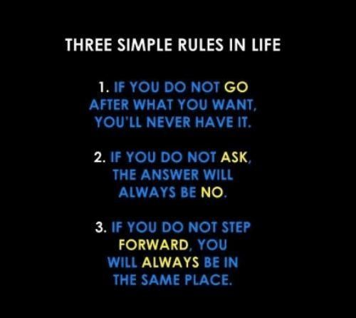 Three simple rules in life.