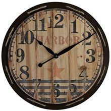 Inspiration for making my own wheathered wood clock, except I'm thinking I want raw edges.