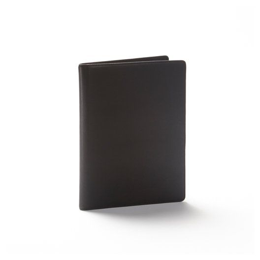 Black Leather Folder | Full Grain Black Onyx Leather