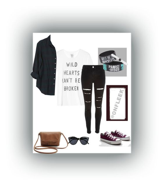 """#onfleek"" by helloitshannahl on Polyvore featuring Zoe Karssen, Xirena, River Island, Le Specs, Charlotte Russe and Converse"