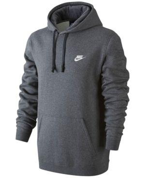 Nike Men's Pullover Fleece Hoodie - Gray 2XL