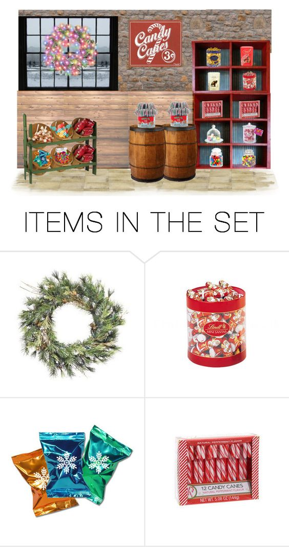 """Old Fashion Candy Shop"" by sjlew ❤ liked on Polyvore featuring art"