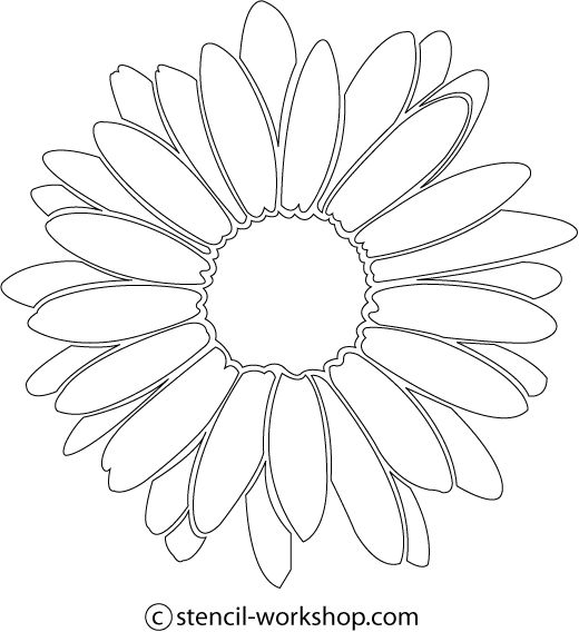 Image detail for daisy flower stencil free daisy flower for Daisy cut out template