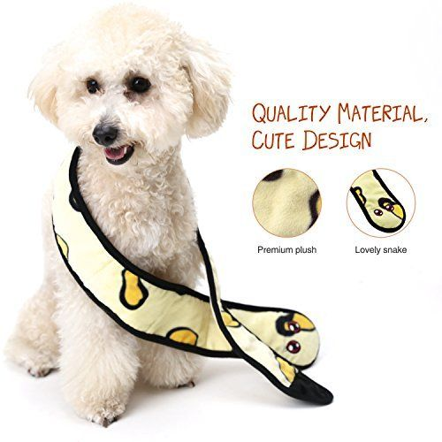 Pawaboo Snake Crinkle Sound Dog Toysi œboa Plush Pet Toys