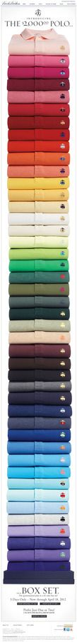 Brook Brothers Polos- Paleta de color #moda