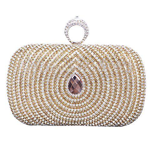 Crystal Rhinestones Clutch Purse Evening Bag Wedding Party Prom Handbag Wristlet