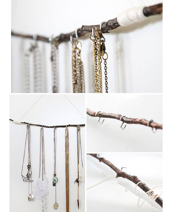 DIY Jewelry Storage Ideas | Click for Tutorial | Easy DIY Wall Organizers