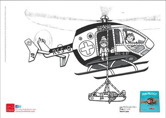 kleurplaat het helikopter uit pim piloot zie ook www