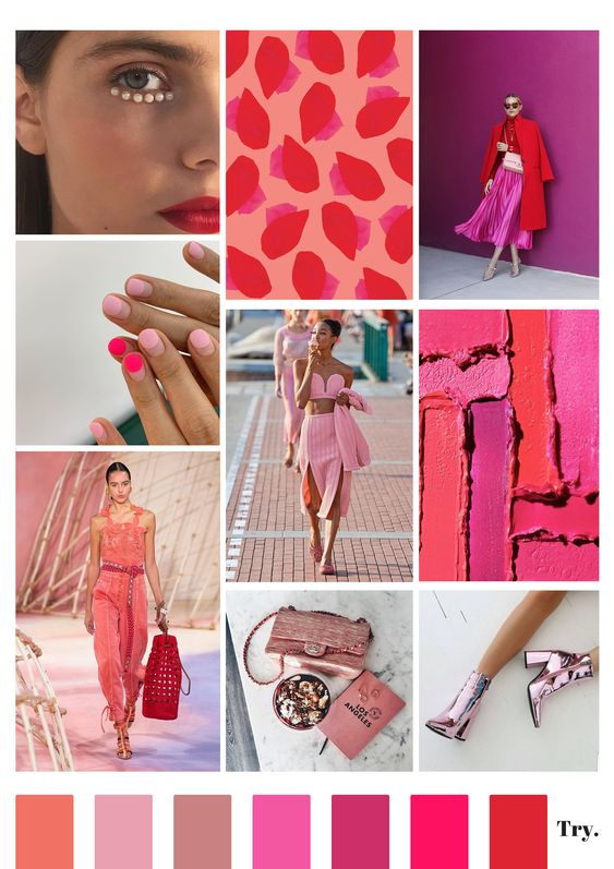 Tablero de inspiración con elementos de moda para crear un estilo propio