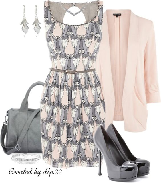 """""""Gray & Pink"""" by dlp22 on Polyvore"""