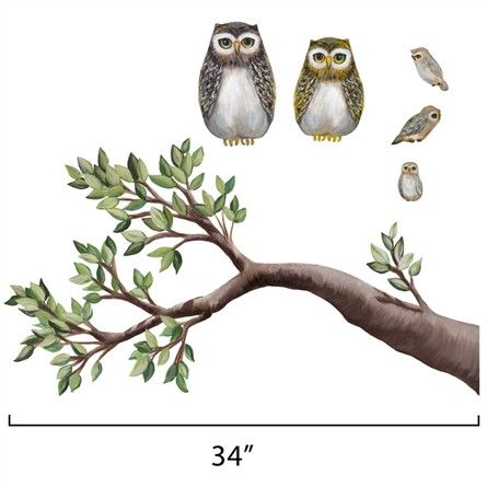 @Rosenberry Rooms is offering $20 OFF your purchase! Share the news and save!  Medium Tree Branch and Owls Wall Stickers - Right #rosenberryrooms