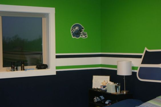 Seahawks Paint Colors Only One Life Wade S Room Ideas