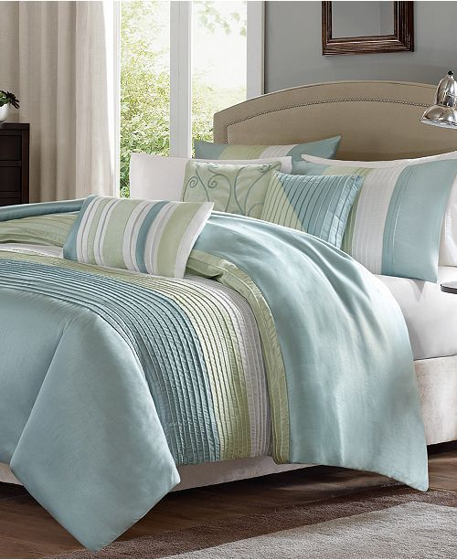 Madison Park Amherst 6 Pc Full Queen Duvet Cover Set Reviews Bed In A Bag Bed Bath Macy S Duvet Cover Sets Bedroom Collections Furniture French Country Living Room