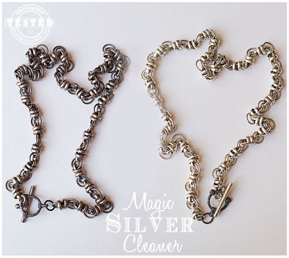 Magic Silver Cleaner - Quick and easy way to clean any of your silver jewelry, or silver dishes. It uses ingredients you probably already ha...