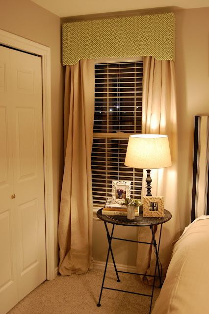 Make your own curtain valance box out of styrofoam board. Cheap ...