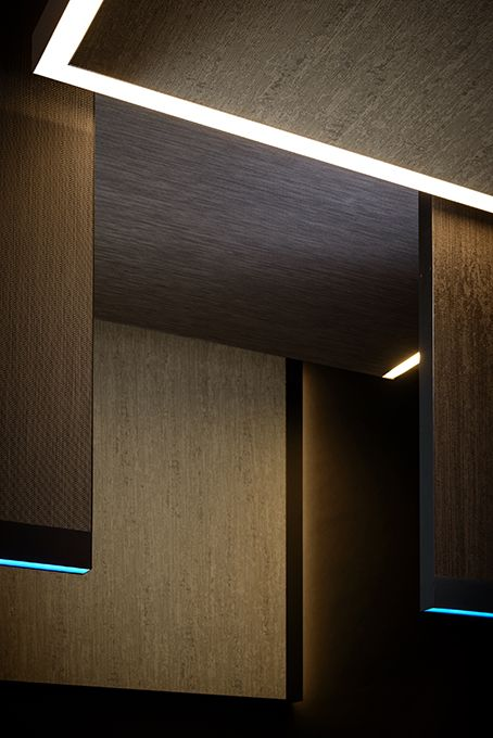 Up- or downlighting, left or right lighting. Everything is possible with ZUMI's Acoustic Panels. #ZUMIBelgium #ZUMI #design #RGB