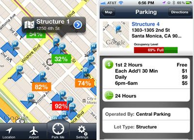 Find a parking spot with your phone