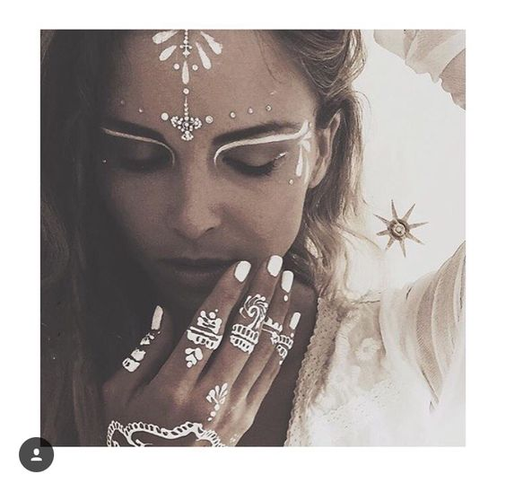 Festival face paint inspiration. Beyond beautiful.   For easy removal, use your Clarisonic facial cleansing device with your favorite cleanser.