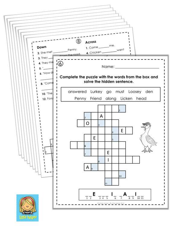 Outstanding Henny Penny Arbeitsblatt Gift - Kindergarten ...