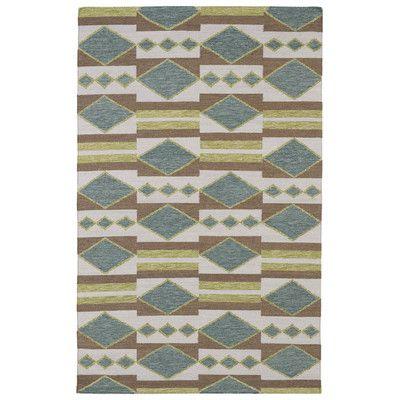 Kaleen Nomad Turquoise Geometric Area Rug Rug Size: