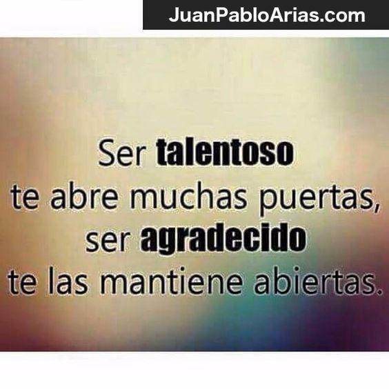 Que razón tiene esta frase!!! Agradezcamos siempre!!! http://bit.ly/JuanPabloAriasCoach