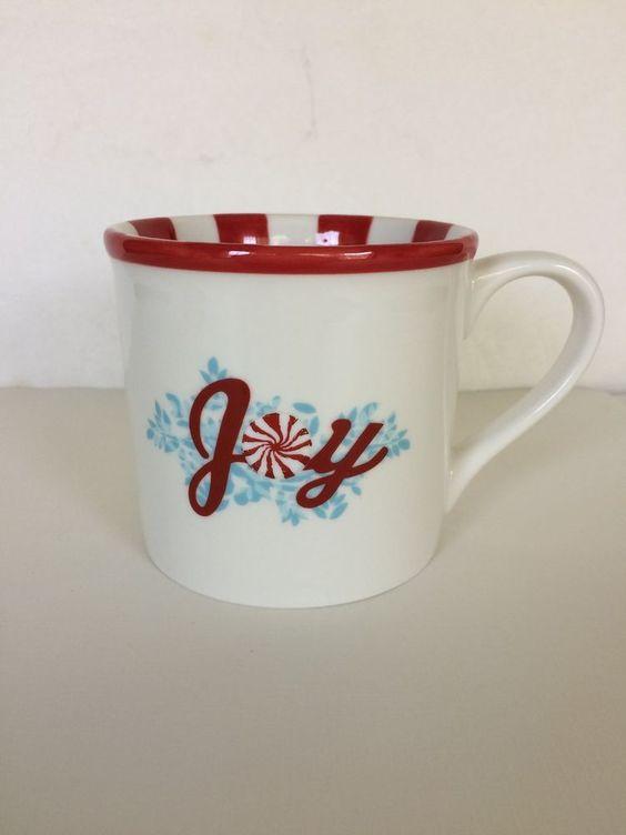 Starbucks Holiday Collection Mug Christmas Joy Candy Cane 14oz 2007